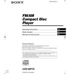 sony cdx mp70 user s manual [ 770 x 1024 Pixel ]