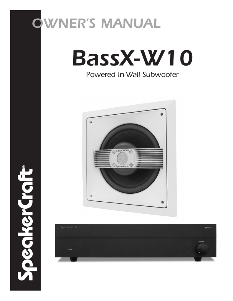 hight resolution of speakercraft bassx w10 user s manual