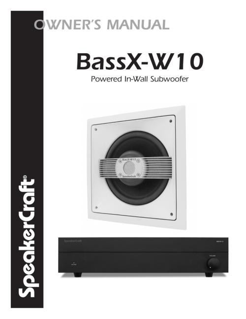 small resolution of speakercraft bassx w10 user s manual