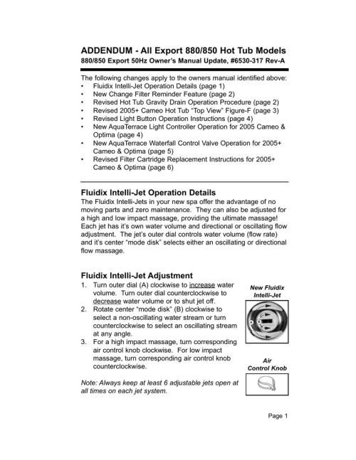 small resolution of sundance spas 850 user s manual