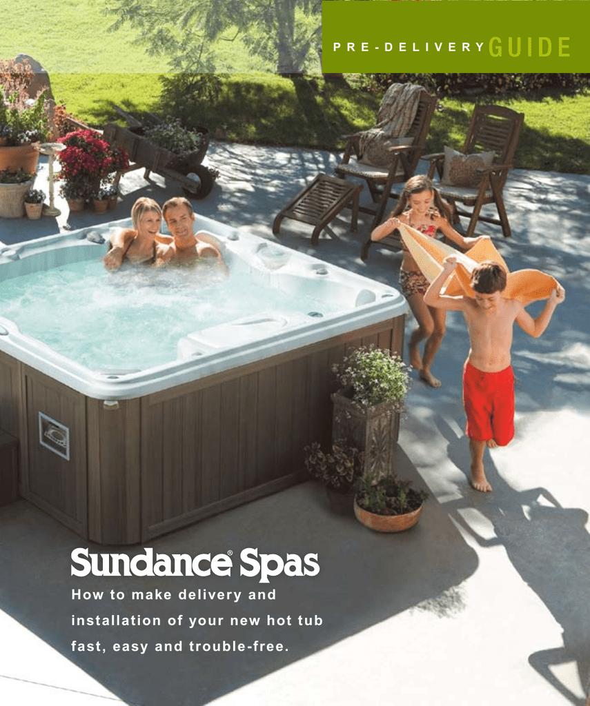hight resolution of sundance spas spas 780 series user s manual