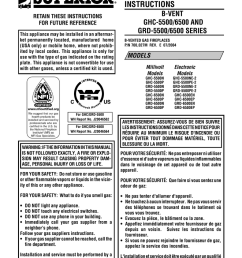superior ghc grd 5500 user s manual [ 791 x 1024 Pixel ]