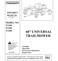 swisher t1260 user s manual [ 791 x 1024 Pixel ]