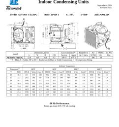 tecumseh ae4430y fz1apg performance data sheet [ 791 x 1024 Pixel ]