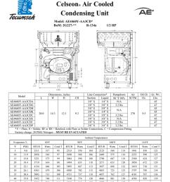 tecumseh ae4460y aa3cda performance data sheet [ 791 x 1024 Pixel ]