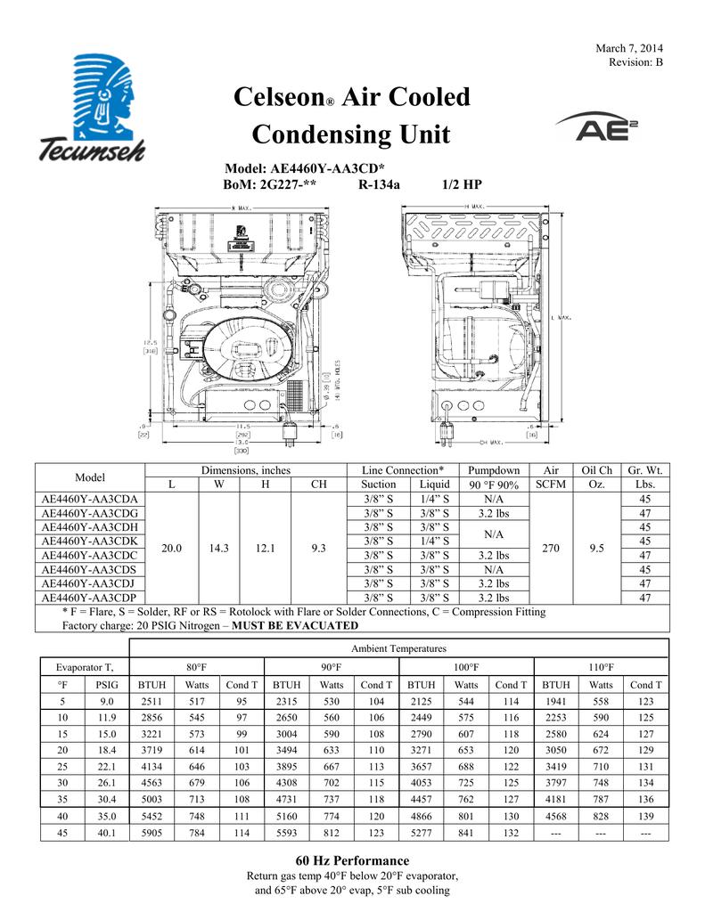 medium resolution of tecumseh ae4460y aa3cda performance data sheet
