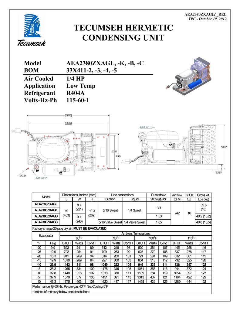 hight resolution of tecumseh aea2380zxagb performance data sheet