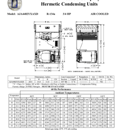 tecumseh aja4482yxaxd performance data sheet [ 791 x 1024 Pixel ]