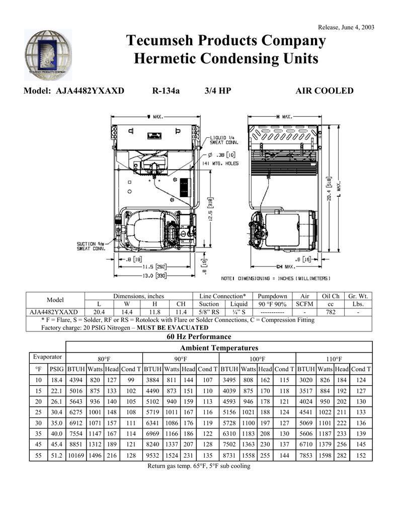 hight resolution of tecumseh aja4482yxaxd performance data sheet