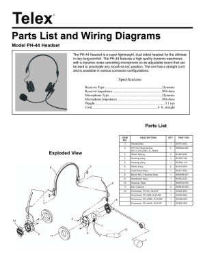 Telex Headset Wiring Diagram   Wiring Library
