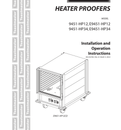 toastmaster e9451 hp12 user s manual [ 791 x 1024 Pixel ]