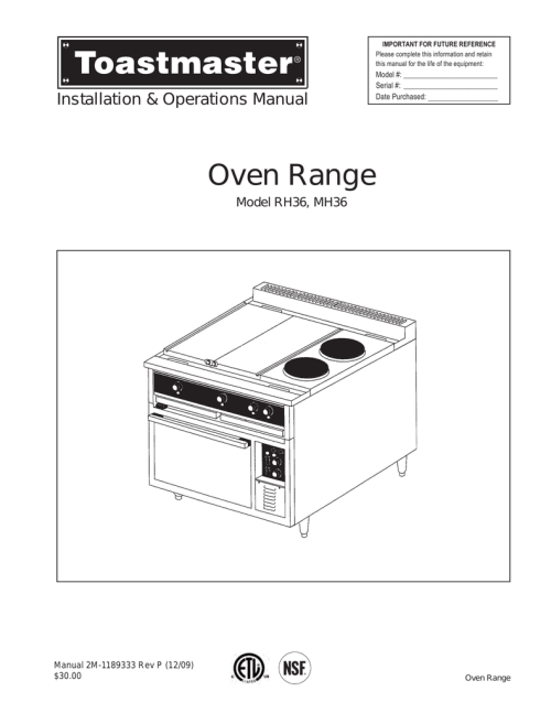 small resolution of toastmaster mh36 user s manual