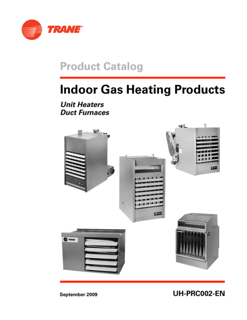 small resolution of trane gas unit heaters catalogue