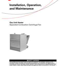 trane gas unit heaters installation and maintenance manual trane unit heater wiring diagram [ 791 x 1024 Pixel ]
