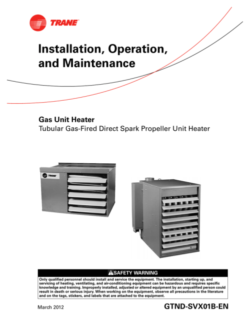 small resolution of trane gas unit heaters installation and maintenance manual