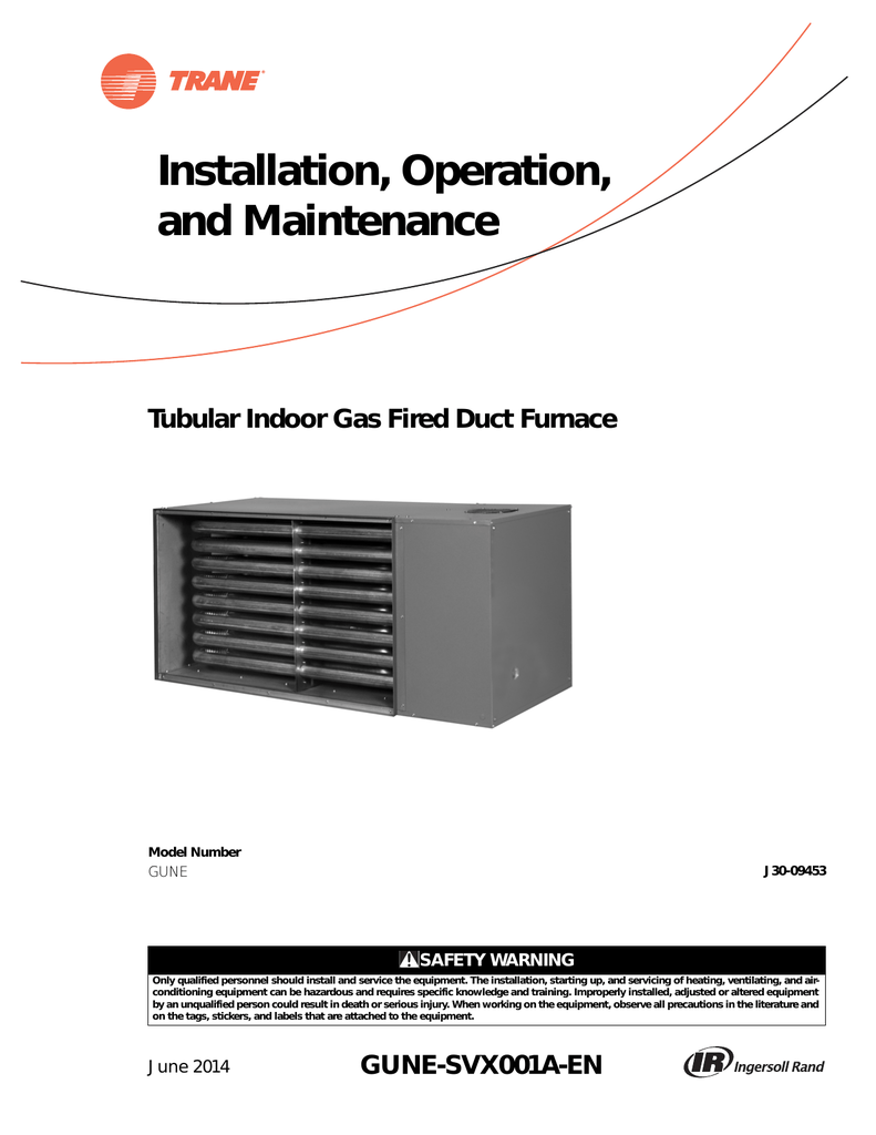 medium resolution of trane gas unit heaters installation and maintenance manual
