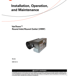 trane round in round out installation and maintenance manual [ 791 x 1024 Pixel ]