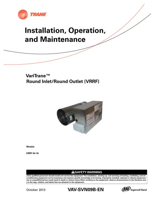 small resolution of trane round in round out installation and maintenance manual