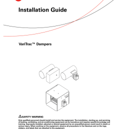 trane varitrac dampers installation and maintenance manual [ 791 x 1024 Pixel ]