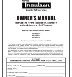 traulsen freezer ret232eut user s manual [ 791 x 1024 Pixel ]