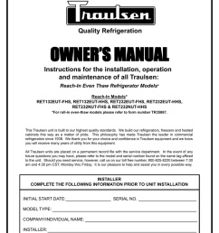 traulsen ret232eut hhs user s manual quality refrigeration owner s manual instructions for the installation  [ 791 x 1024 Pixel ]