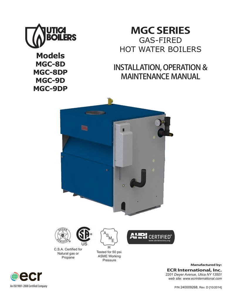 medium resolution of utica boilers mgb series ii mgc series operation and installation manual