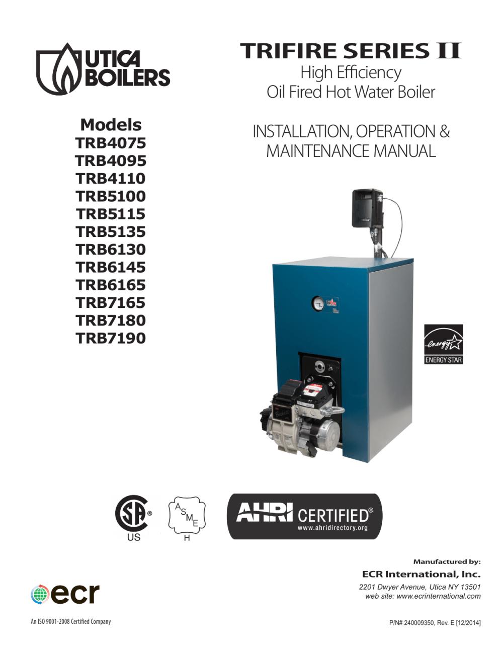 medium resolution of utica boilers trifire trb 3 operation and installation manual manualzz com