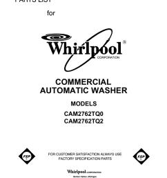 whirlpool cam2762tq0 user s manual [ 791 x 1024 Pixel ]