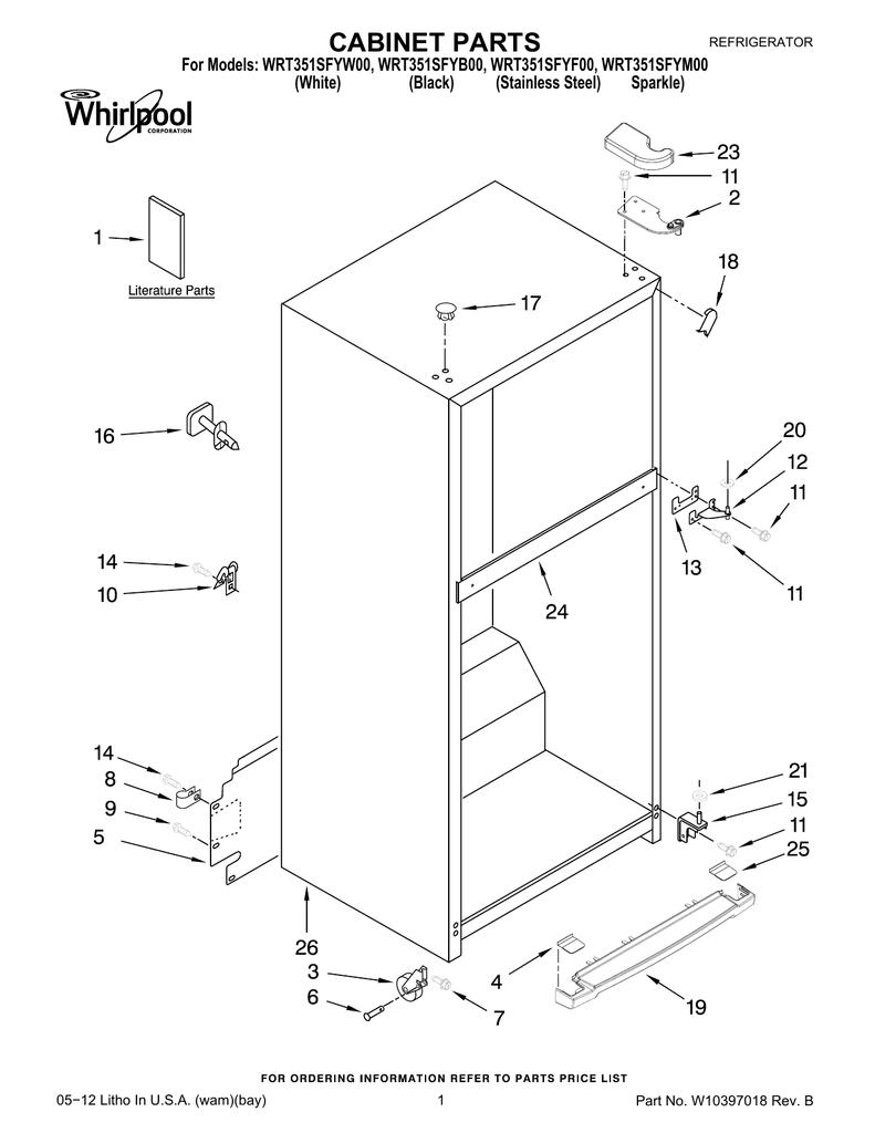 Whirlpool Refrigerators Parts Manual Pdf / Whirlpool