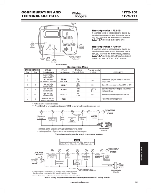 small resolution of white rodgers 1f72 151 wiring and configuration manualzz comwhite rodgers 1f72 151 wiring and configuration