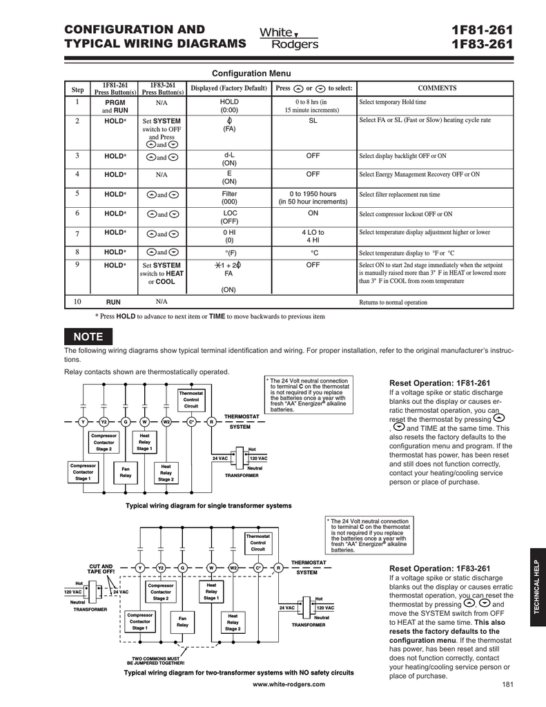 hight resolution of white rodgers 1f81 261 wiring and configuration manualzz com
