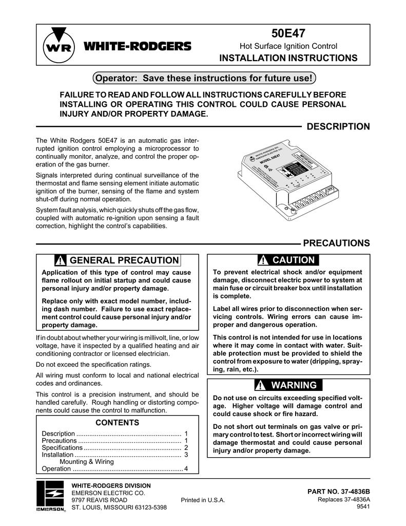 medium resolution of white rodgers 50e47 user s manual