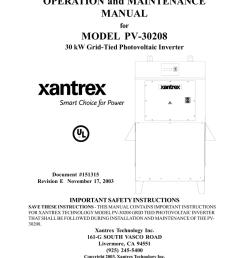xantrex pv 30208 user s manual [ 791 x 1024 Pixel ]