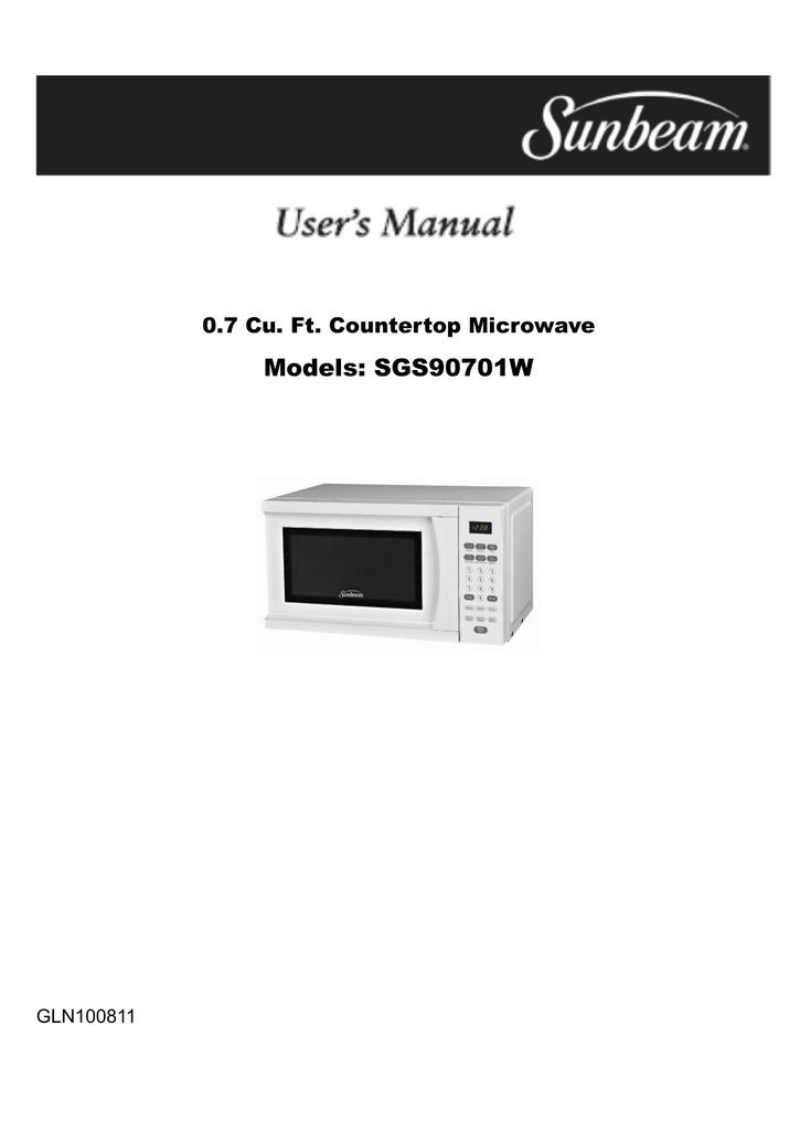 sunbeam sgs90701w b user guide manualzz