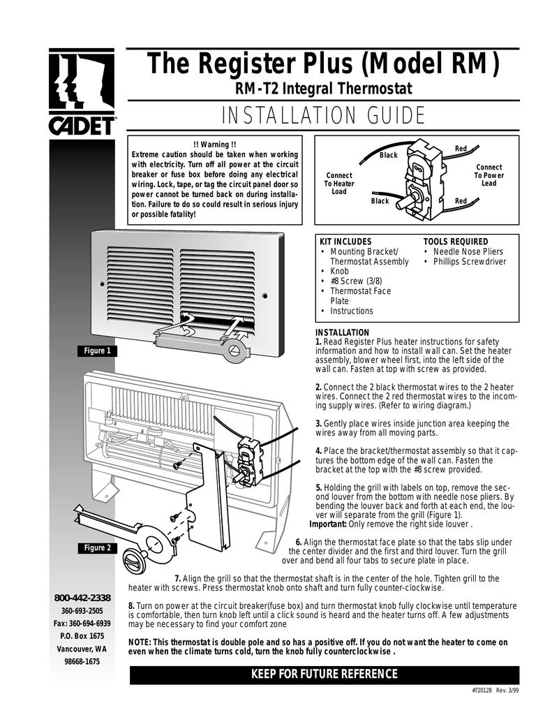 medium resolution of cadet rmt2a installation guide