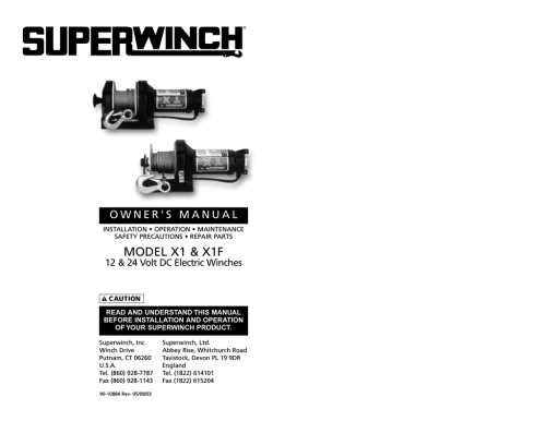 small resolution of superwinch 1181 instructions assembly
