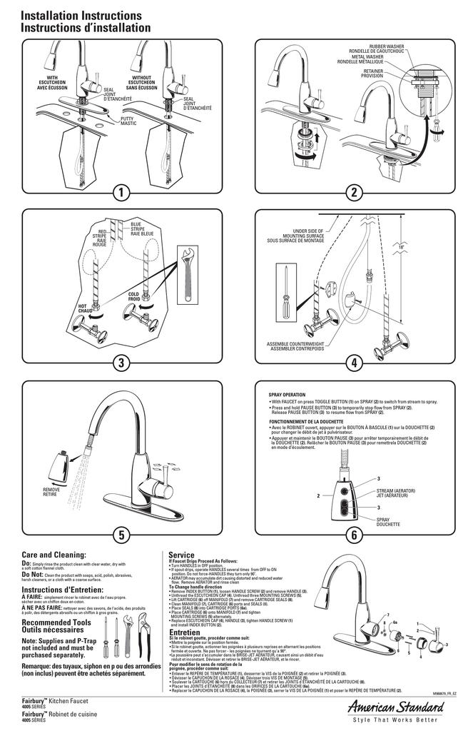 american standard 4005ssf 4005f