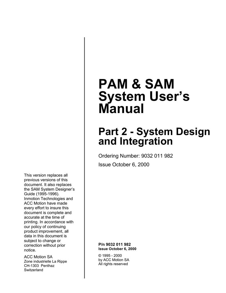 medium resolution of pam sam system user s manual