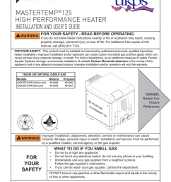 mastertemp 125 installation and user s guide high [ 791 x 1024 Pixel ]