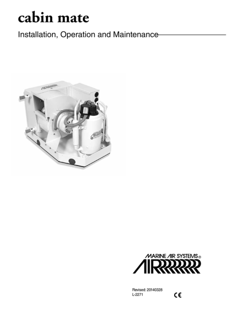 small resolution of marine air cabin mate installation operation manual