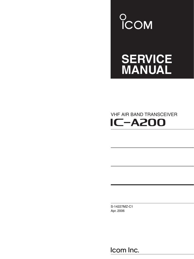 medium resolution of ic a200 service manual