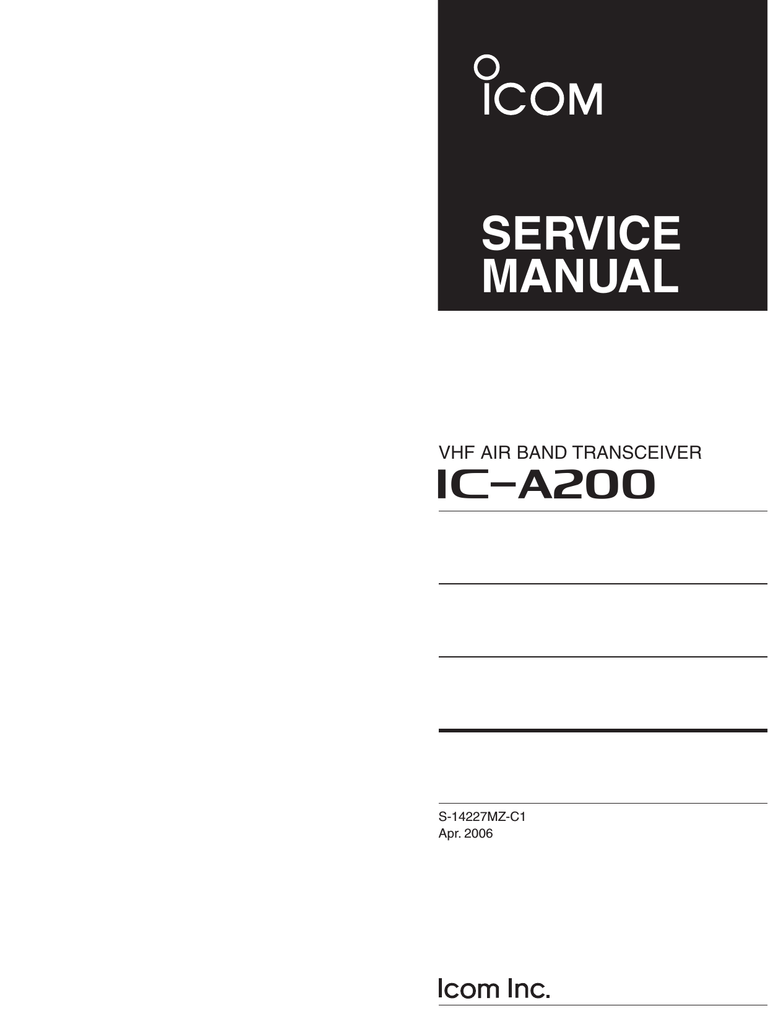 hight resolution of ic a200 service manual