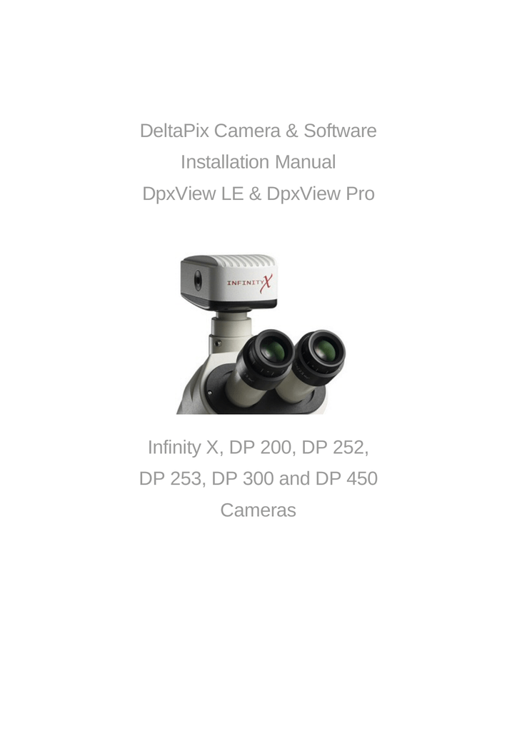 DeltaPix Camera & Software Installation Manual DpxView LE
