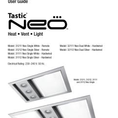 Ixl Tastic Original Wiring Diagram 2005 Ford Escape Headlight User Guide Heat Vent Light Manualzz Com