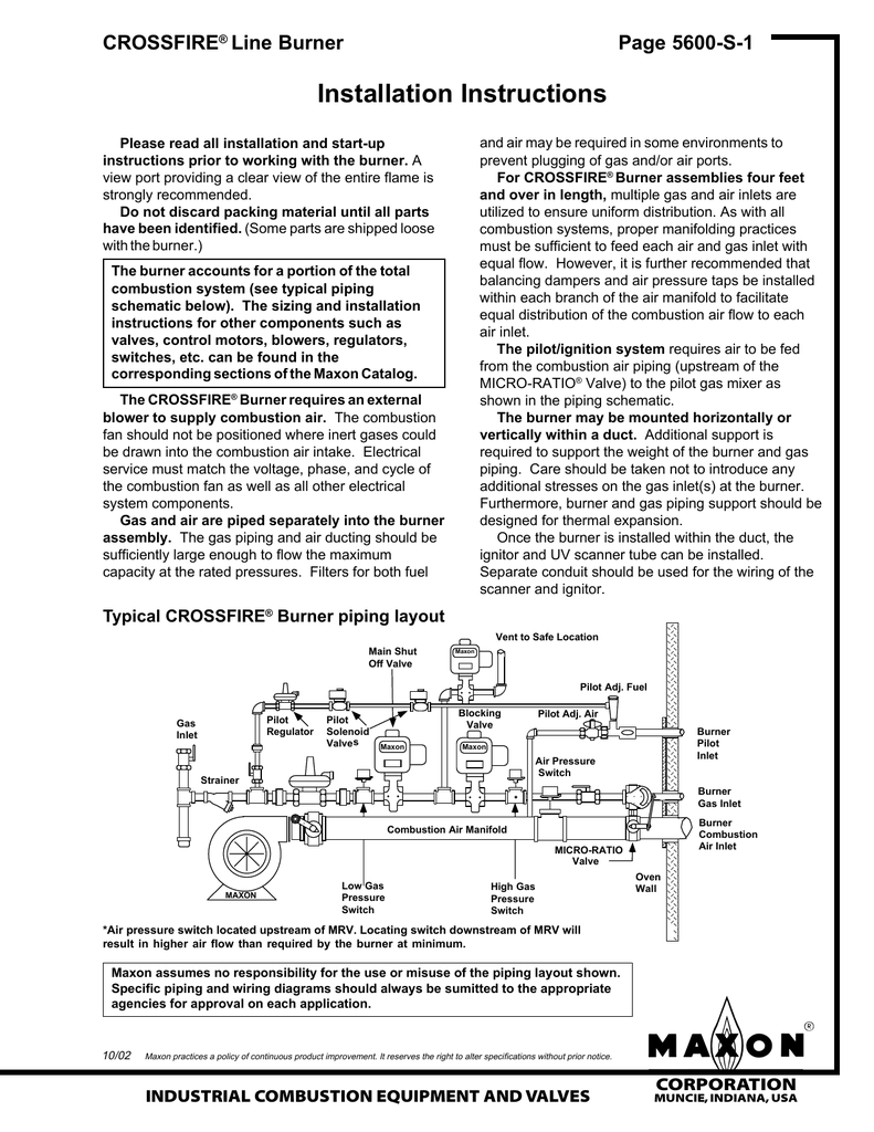 hight resolution of maxon crossfire nozzle mix low emissions line burner installation