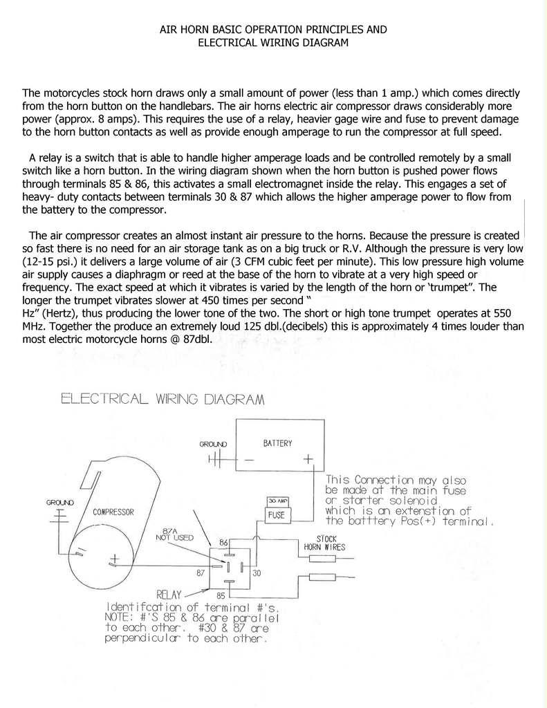 medium resolution of air horn wiring and troubleshooting booklet