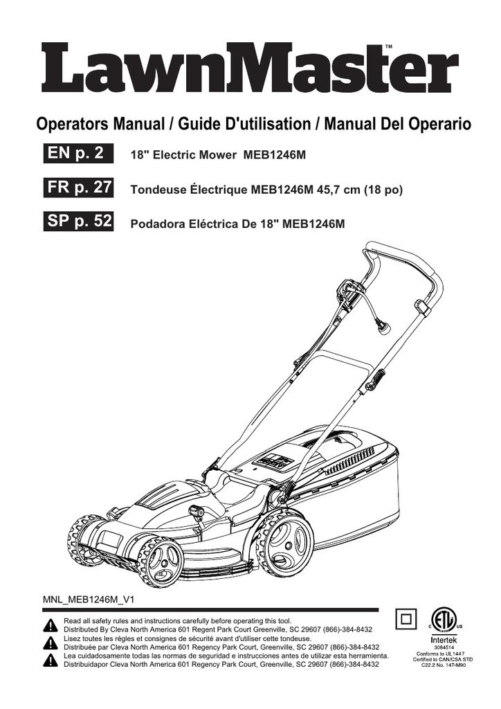 Operators Manual / Guide D'utilisation / Manual Del