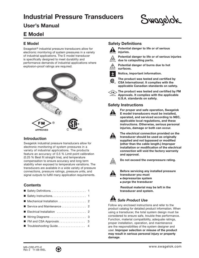 medium resolution of industrial pressure transducers user manual e model ms