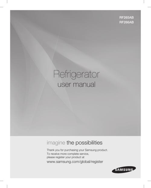 small resolution of samsung rf265abwp xac user manual