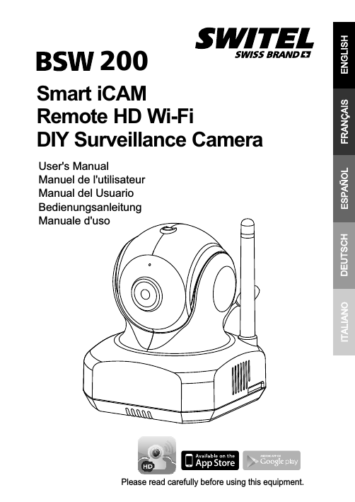 Smart iCAM Remote HD Wi-Fi DIY Surveillance Camera